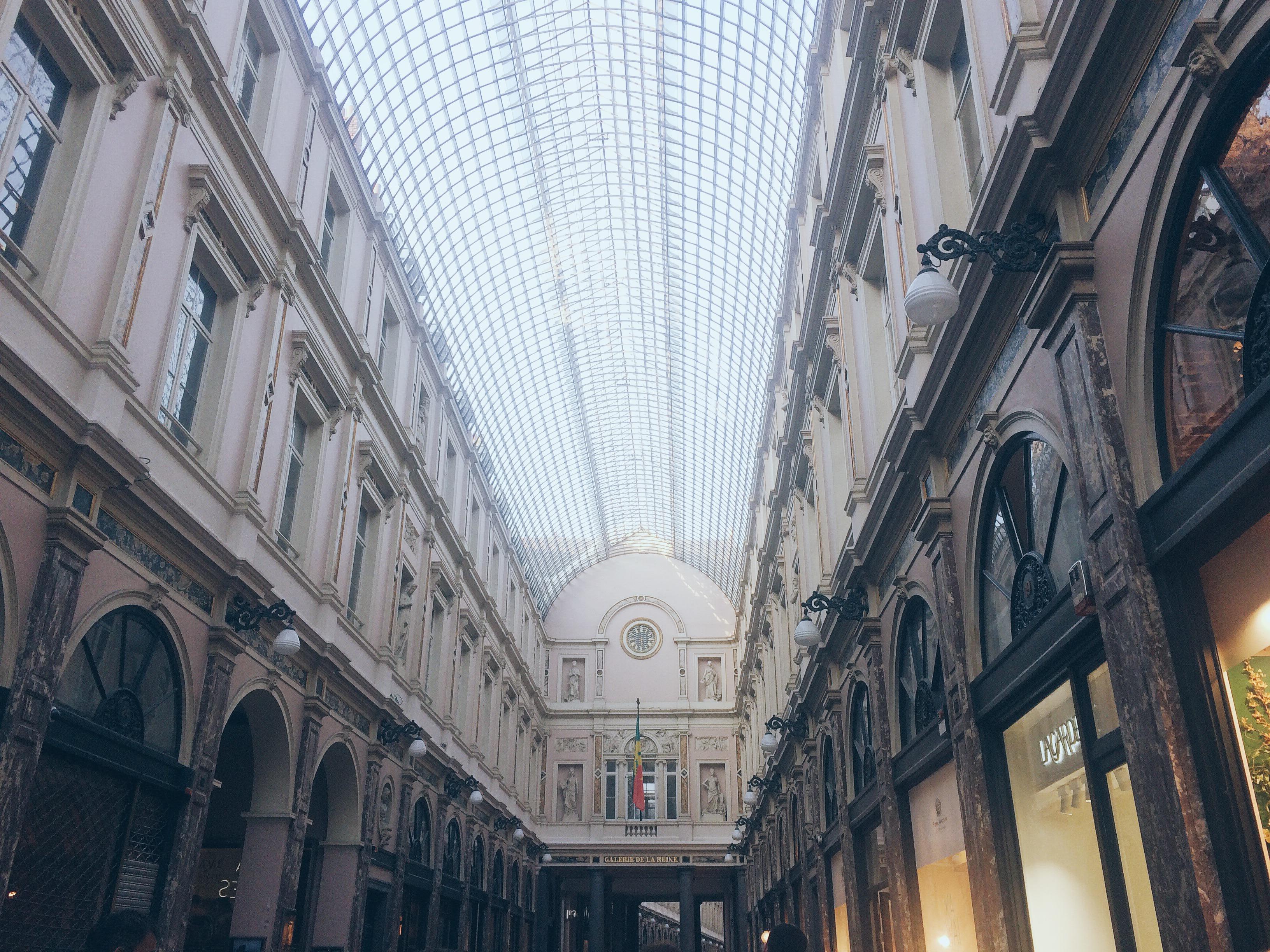 Mont des arts Galeries Saint-Hubert Bruxelles Brussels